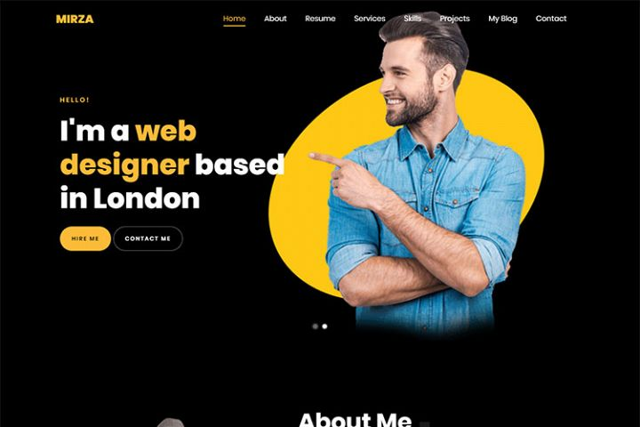 Mirza - Creative Resume/Portfolio HTML5 Template
