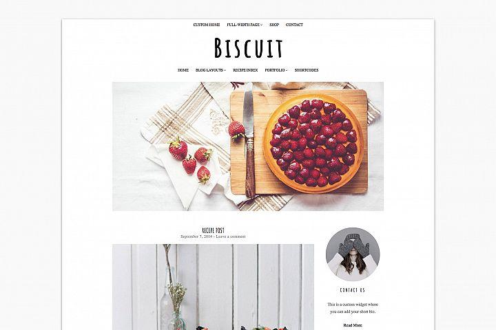 Biscuit - WordPress Food Blogger