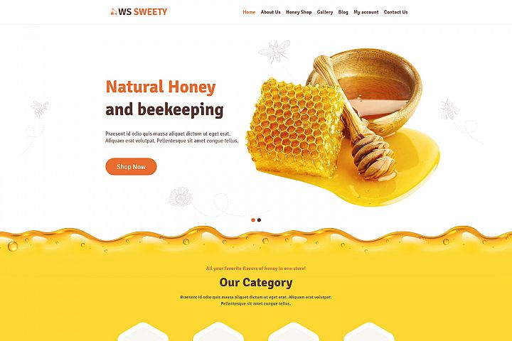 WSweety Eye catching Honey WordPress theme