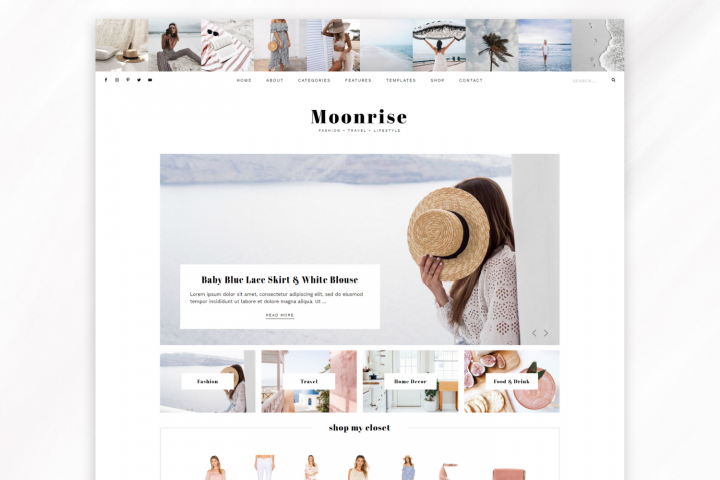 Responsive WordPress Theme for Blogs - Moonrise
