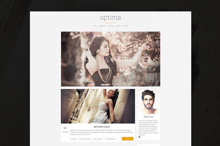 Optima - Elegant WordPress Blog Theme