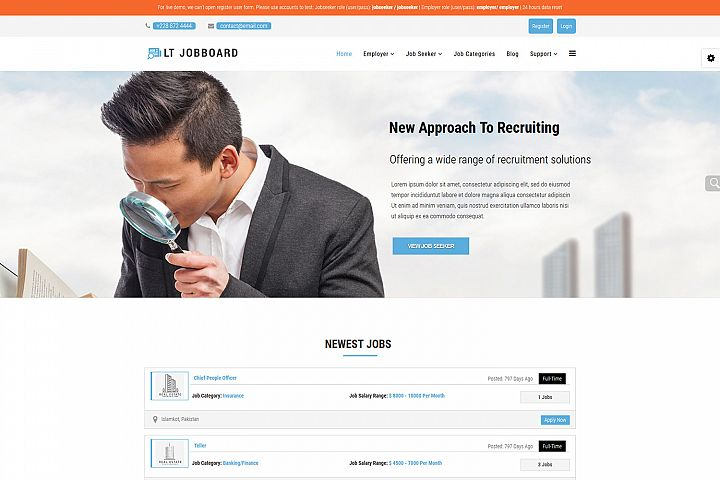 LT Jobboard - Premium Joomla Job Portal Template