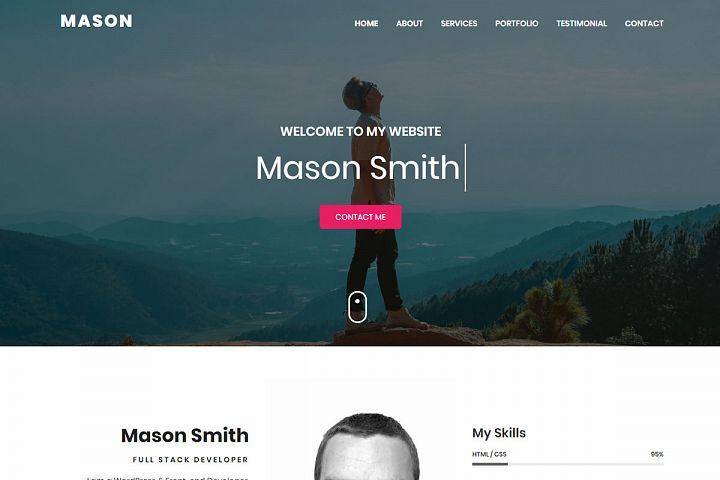 Mason - Personal Portfolio HTML Template