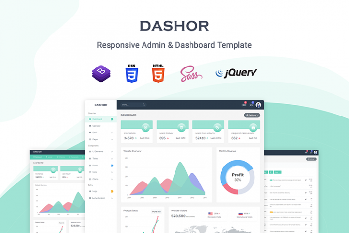Dashor - Admin Dashboard Template