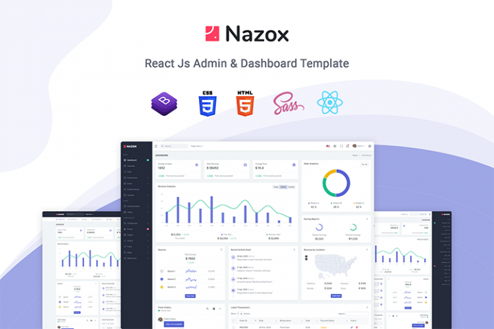 Nazox - React Admin & Dashboard Template