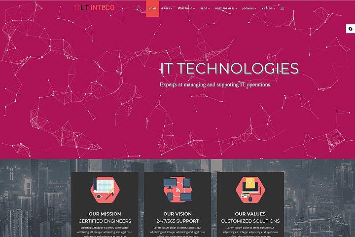 LT Inteco - Premium Responsive Joomla IT Company template
