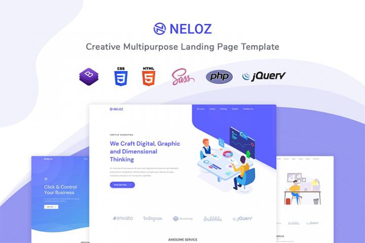Neloz - Landing Page Template