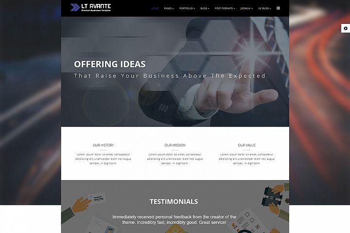 LT Avante - Premium Responsive Joomla Business template