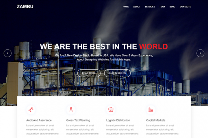 Zambu Material Design Industry Template