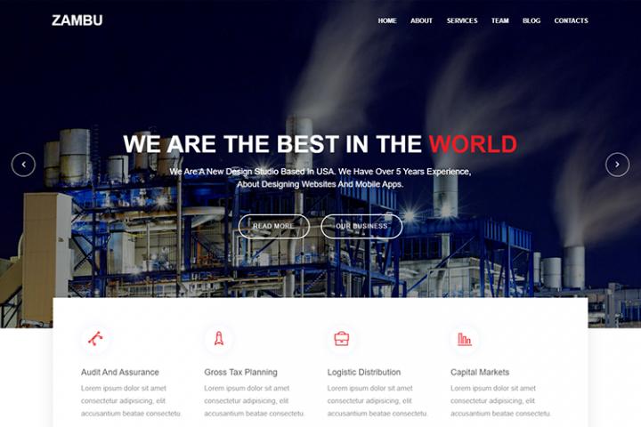 Zambu Material Design Industry Template
