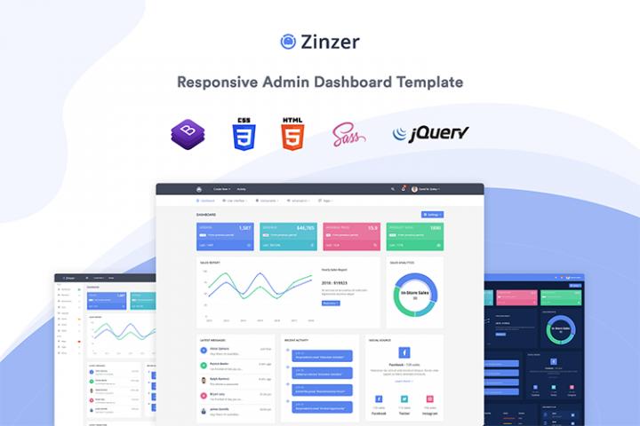 Zinzar - Admin Dashboard Template