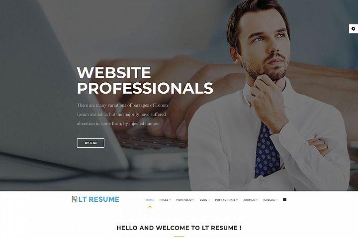 LT Resume - Premium Joomla Personal Resume Template