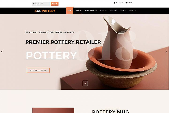 WS Pottery Responsive Furniture Wordpress theme